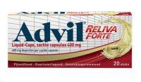 Advil Liquid Caps 400 mg. 20 capsules