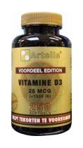 Artelle Vitamine D3 25mcg 250 softgels