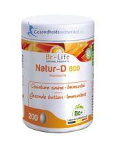 Be Life Vitamine D Natur 800 200 capsules gezondheidswebwinkel.nl