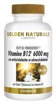 Golden Naturals Vitamine B12 6000 mcg vega 60 zuigtabletten Gezondheidswebwinkel