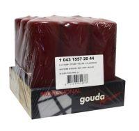 Gouda Stompkaars wijnrood 200 hoogte/breed 70 mm 9 stuk gezondheidswebwinkel