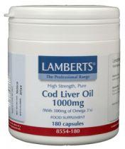 Lamberts Levertraan (Cod) 1000 mg. 180 capsules