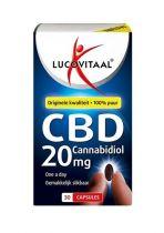 Lucovitaal CBD 20 mg 30 capsules Gezondheidswebwinkel