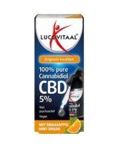 Lucovitaal CBD Olie 5% sinaas mint 10 ml gezondheidswebwinkel
