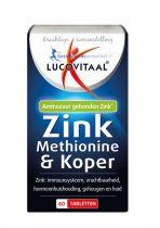 Lucovitaal Zink methionine en koper 60 tabletten gezondheidswebwinkel