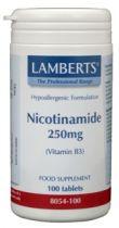 Lamberts Nicotinamide 250 mg. 100 tabletten