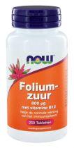 NOW Foliumzuur 800 mcg 250 tabletten gezondheidswebwinkel