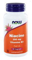NOW Niacine Flush vrij 250 mg 90 capsules gezondheidswebwinkel