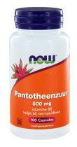 NOW Pantotheenzuur 500 mg (B5) 100 capsules gezondheidswebwinkel