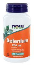 NOW Selenium gistvrij 200 mcg 90 Vegi Capsules gezondheidswebwinkel