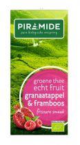 Piramide Groene thee granaatappel framboos 20 theebuiltjes