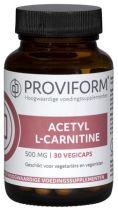 Proviform Acetyl L Carnitine 30 caps. gezondheidswebwinkel