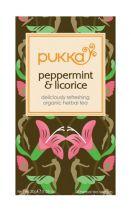 Pukka Peppermint Licorice herbal tea gezondheidswebwinkel