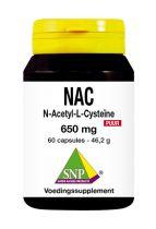 SNP N-acetyl L-cysteine 650 mg puur 60 capsules gezondheidswebwinkel