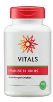 Vitals Vitamine B1 100 mg 100 capsules gezondheidswebwinkel