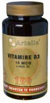 Artelle Vitamine D3 15mcg 100 softgels